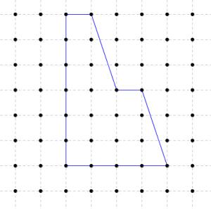 Calculer l'aire de ce polygone