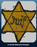 le port obligatoire d'une étoile jaune sur la poitrine gauche...